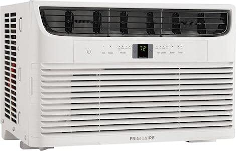 """FFRA082WAE 19"""" Window-Mounted Air Conditioner with 8000 BTU Cooling Capacity, Effortless Temperature Control, Sleep Mode and Remote Control in White"""