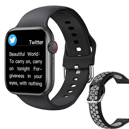 ZGLXZ T800 Smartwatch 1.72 Pulgadas Bluetooth Llamada DIY AIL Aptitud Pulsera Smart Watch para Hombres Y Mujeres PK IWO W46 W56 Series 6 para iOS Android,E
