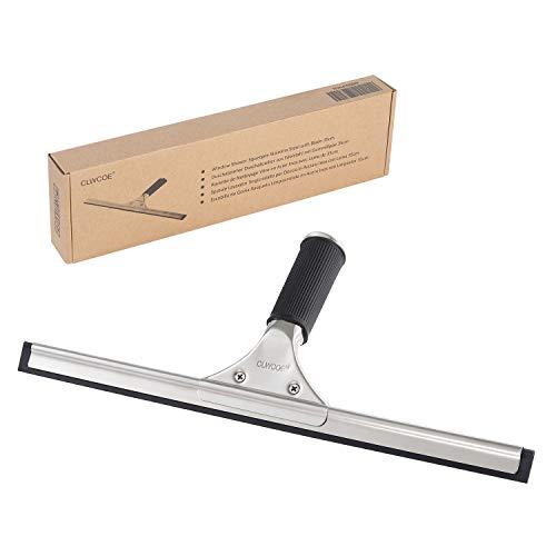 Rasqueta limpiacristales, herramienta limpiavidrios, de acero inoxidable, ideal para, espejos, ventanas, ventanillas de coche, mide 35cm