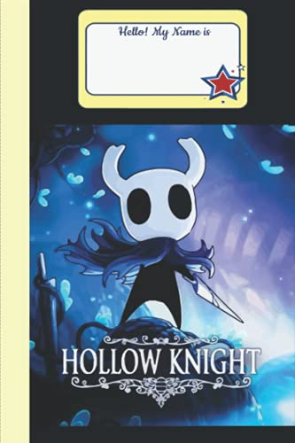 Hollow Knight Notebook Merch for Women Men Teen: Hollow Knight Art | Hollow Knight Fanart |Gamer Journal | Diary | Notepad book | Planner Book Gamers ... Thick Blank ... 6x9 inches (114 Pages)
