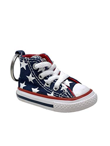 Converse Key Chain All Star Chuck Taylor Sneaker Keychain Authentic (Blue / Stars)