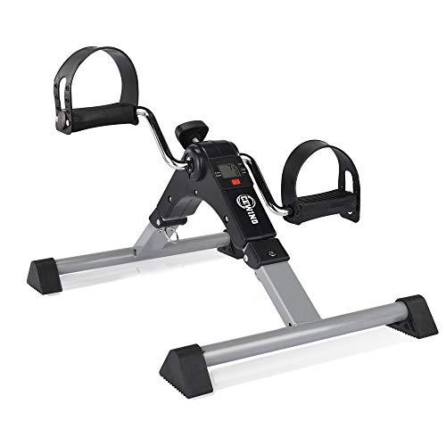 CEWINO Folding Pedal Exerciser,Mini Exercise Bike,Portable Foot Peddler Desk Bike for Physical Therapy Leg and Arm Exercisers,Adjustable Sitting Pedal Exerciser for Elderly Men Women