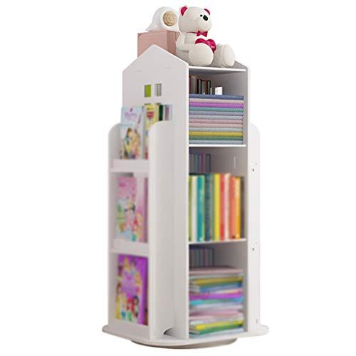 YHRJ Librerie per Bambini songmics Scaffale per Bambini Girevole per La Casa, Scaffale per Giocattoli da Terra per Asilo Nido, Scaffale A Forma di Piccola Casa, Facile Installazione (Color : Bianca)