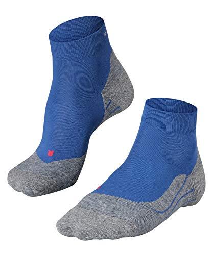 FALKE Herren Laufsocken RU4 short, Kurze Runningsocke mit Baumwolle, leichte Dämpfung für blasenfreies Laufen, 1 er Pack, Blau, 42-43