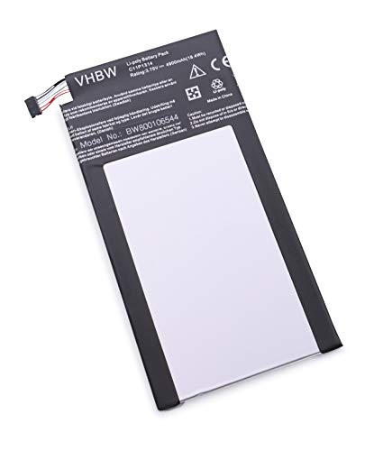 vhbw Batterie Compatible avec ASUS Memo Pad ME 102, 102a, K00F Tablette (4900mAh, 3,75V, Li-polymère)