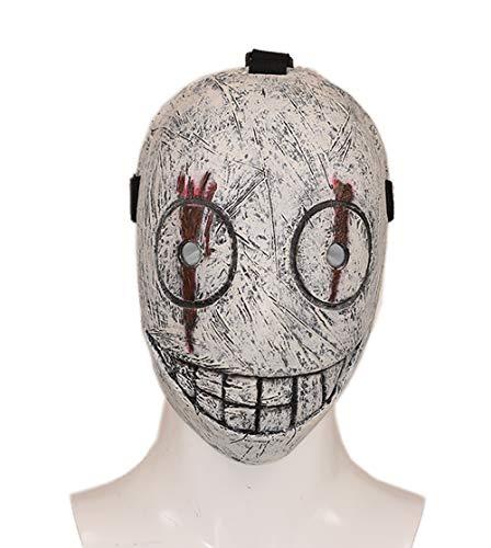 Wellgift Legion Frank Maske DPD Cosplay Kostüm Spiel Erwachsene Volles Gesicht Latex Helm Replik Halloween Fancy Dress Verkleiden Merchandise Zubehör