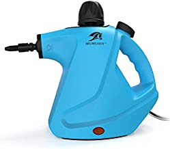 MLMLANT Upgrade Steam Cleaners, Handheld Pressurized Steam Cleaner 450ml Water Tank with 9-Piece Accessory Kit for Stain Removal, Floor Steamer, Carpets, Curtains, Car Seats & More