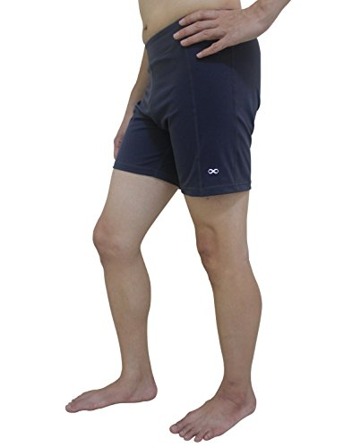 YogaAddict Men Yoga Stretchable Short Pant, Quick Dry, Ideal for Any Yoga Style and Pilates, Gym, Premium Quality, Grey - Size L