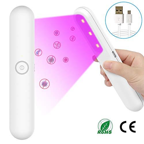 Victostar Lampada Sterilizzatore Ultravioletta Portatile con 3 Perline lampada UVC Lampada Germicida Ricarica USB UV Luce di Sterilizzazione per Casa Hotel Auto Ufficio Scuola