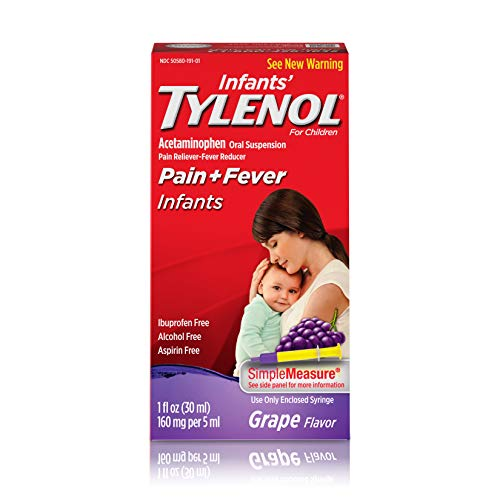 Infants Tylenol Pain Reliever and Fever Reducer Liquid Drops - Acetaminophen - Grape - 1 fl oz