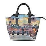 HANILUC Abnehmbare mode trend damen handtasche umhängetasche umhängetasche,Italien Vatikan Rom...