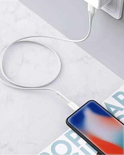 Cabepow 2Pack 2M iPhone Ladekabel Lang, [MFi Certified ] 2Meter Lightning Kabel, Schnellladung iPhone USB Ladekabel für iPhone 11/XS/XSMax/XR/X/8/8 Plus/7/7Plus/ 6s/6/6Plus/5S/5, iPad.Weiß