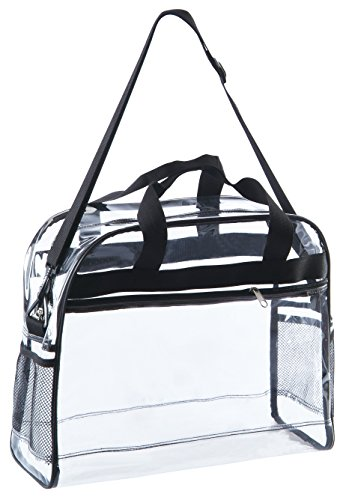 Clear Briefcase Transparent Handbag See Through Tote Bag for Work with Handles Clear Travel Tote with Adjustable Shoulder Strap For Women Or Men For Security Facilities