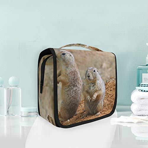 Kulturbeutel zum Aufhängen, Marmot Nagetiere, lustige Tier-Kosmetiktasche für Frauen, Mädchen, Multifunktions-Reisetasche, Make-up-Tasche, Kulturbeutel, Aufbewahrungstasche
