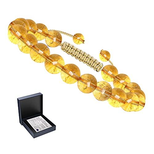 Bracelet Citrine Bracelet Perles Bracelet Pierre Bracelet Naturelle Perles 8MM Bracelet Élastique Bracelet Femme Bracelet Extsible Semi Précieuse Bracelet Noel Cadeau Noel