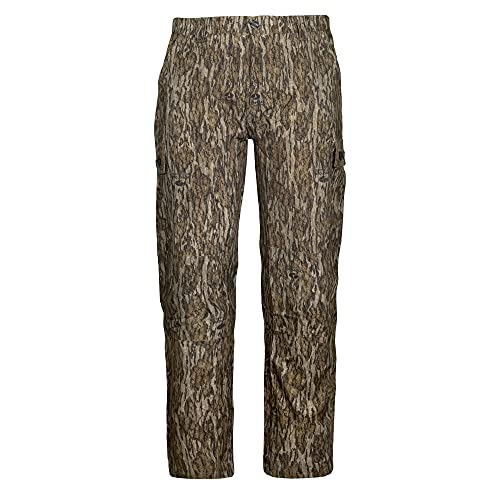 Mossy Oak Camo Lightweight Hunting Pants for Men Camouflage Clothing, Small, Bottomland