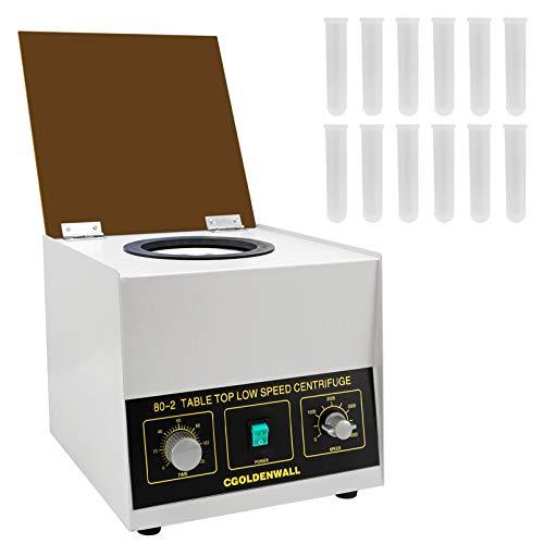 CGOLDENWALL 80-2 Zentrifuge 4000U/min mit 12x20ml Röhrchen-2325xg Zentrifugalkraft/0-120min Timer für Probentrennung&Qualitative Analyse in Krankenhäusern/Biologischen/Chemischen Labor