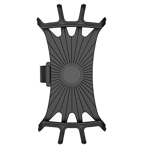 Gowind6, Soporte universal para teléfono de bicicleta, deportivo, compatible con soporte giratorio, ajustable y desmontable para bicicleta y motocicleta (negro)