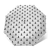 Paraguas Plegable Automático Impermeable Martillo 41, Paraguas De Viaje Compacto a Prueba De Viento, Folding Umbrella, Dosel Reforzado, Mango Ergonómico