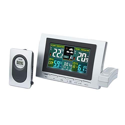 NBWS Weerstation, multifunctioneel digitaal weerstation voor binnen en buiten, met lcd-kleurenscherm