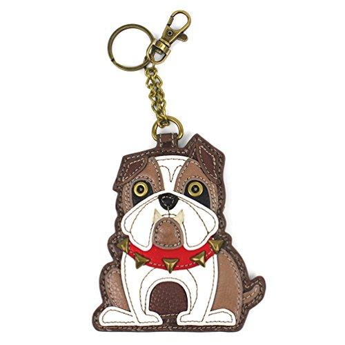 Chala Key Fob/Coin Purse 'Bulldog' Brown