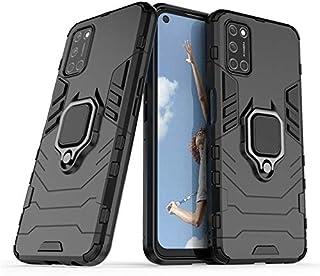 سلسلة Realme 7 (7/7 Pro) حافظة مضادة للصدمات مع حلقة معدنية خلفية (Realme 7 Pro, أسود)