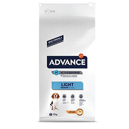 ADVANCE Light - Croquettes pour Chien Medium Adult pour un Poids Optimal avec Poulet - 12kg