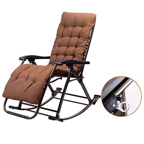 Tumbonas Mecedora Silla de Descanso con Mecedora reclinable y Mecedora reclinable en Color marrón...