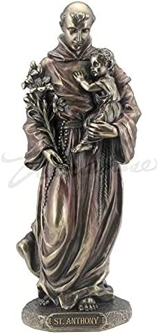 Saint Anthony of Padua Holding Jesus Quantity limited Baby Figur Sculpture 67% OFF fixed price Statue