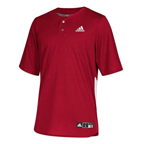 adidas Diamond King Elite 2Button Jersey Men's Baseball M Power Red-White