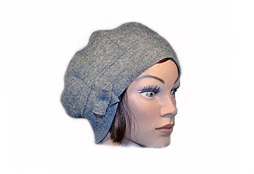 Mütze, Damen, Filzmütze, Winter, Wollhut, grau, Wolle, Filz, modern, lässig, cool, Walk, Loden
