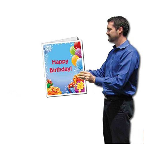 VictoryStore Jumbo Greeting Cards: Giant Presents and Balloons Birthday Card with Envelope, Size 18 Inch x 24 Inch