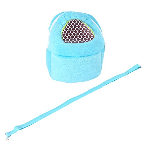 Yosoo Tragbare Transporttasche für kleine Tiere Hund Katze Eichhörnchen Hamster Kaninchen 21 x 25 cm (blau)