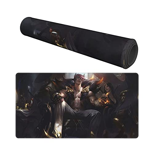 Sett L-oL League Legends Mouse Pad,LOL Large Gaming Mouse Pad,Non-Slip Rubber Table Mat and Keyboard Mat for Pc Computer