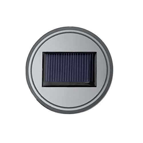 TIREOW 2 STÜCK Solar Tasse Becher Pad Auto Bar LED Lichtabdeckung Innenraum Lichter Kaffeetasse Untersetzer Bier Milch Kaffee Getränke LED Untersetzer (Grün)