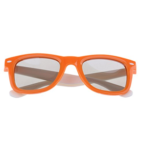 #N/A Adult RealD Technology 3D Polarized Glasses For TV/Movies/Cinema - orange