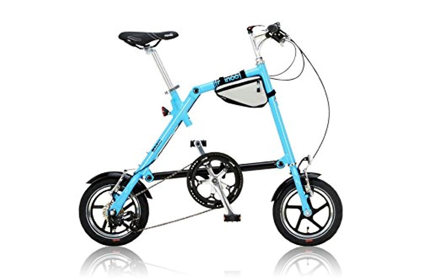ミニ信頼性のある貴重なNANOO(ナノー)  折りたたみ自転車 12インチ アルミ製 シマノ7段変速 専用輸行バッグ/トライフレームバッグ付属