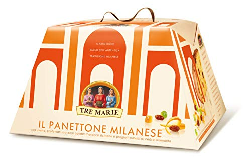 Tre Marie Il Panettone Milanese 750 g (1 lb 10.5 oz) Traditional Italian Christmas Cake