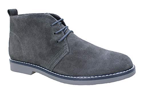 Evoga Zapatos polacos de hombre Class ante piel nobuck 100% Made in Italy Size: 41 EU