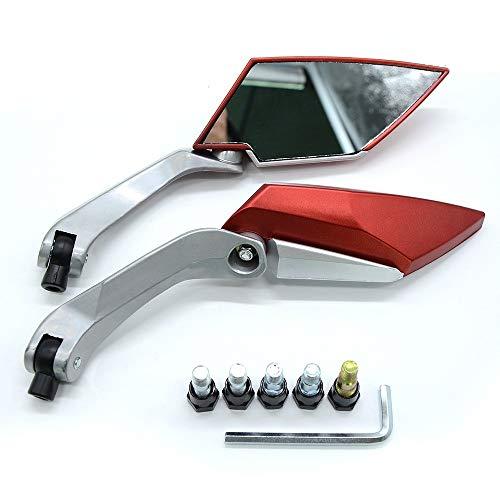 For SUZUKI GSR 600 GSXR 600 750 1000 GSX-S750 SFV650 GLADIUS KTM Duke 125 200 390 Trasero De La Motocicleta Espejos Laterales Facilidad De Uso (Color : Red)