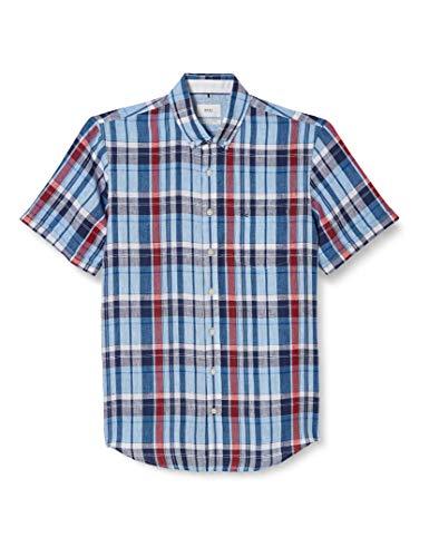 BRAX Drake Airwashed Linen Camisa, Rojo (Rot 45), Large para Hombre