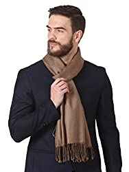 Pashtush Jaquard Weave Stole for Men, Pashmina Stole, Light Weight, Woven Embelished Design, Mens Scarf