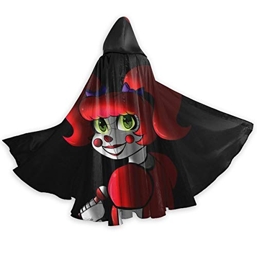 100 Five Nights at Freddy's - Sister Location Baby Adult Unisex Halloween Cloak Cosplay Costume Party Long Hooded Cape Robe