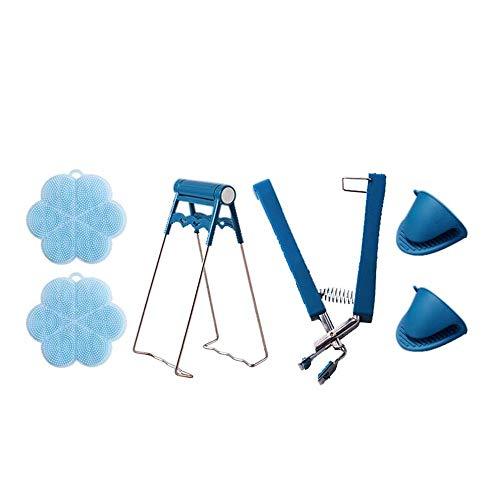 Pinze antiscottatura, tappetini in silicone, guanti antiscottatura, utilizzati per estrarre cibi caldi dal forno e dal microonde