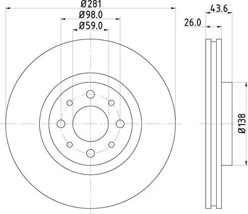 Disco de freno (1 pieza) 036-2160190