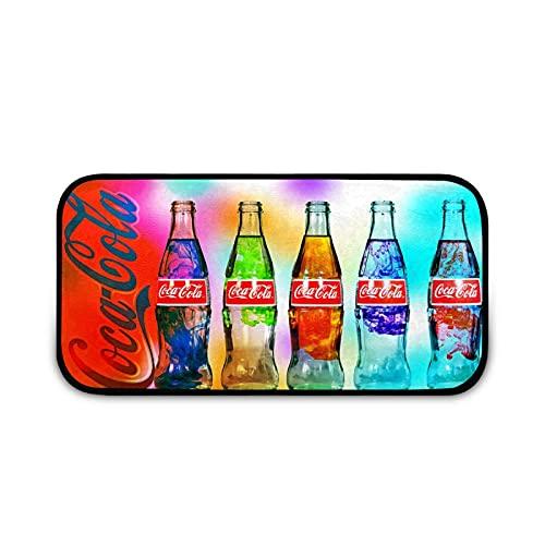 Alfombras de cocina Rainbow Coca Cola Botella de Cocina Alfombras Antideslizante de Sarga de Cocina Alfombra de Pie Lavable para Cocina Piso de Cocina Hogar Oficina Lavandería 40 x 20 pulgadas