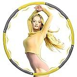 Hulahooping Hula Hoop Reifen Erwachsene, 8 Segmente Abnehmbares Hoola Hoop, Gewichtsreduktion und Massage Fitness Reifen mit Premium Schaumstoff, Pilates-Kreise für Erwachsene und Kinder.