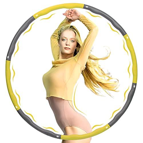 Hulahooping Hula Hoop Reifen Erwachsene, 8 Segmente Abnehmbares Hoola Hoop, Gewichtsreduktion und...
