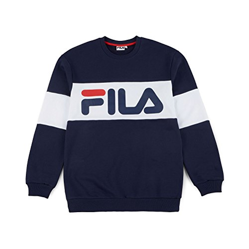 Fila Straight Blocked Crew Men, Felpa - S