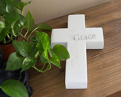 LynnYo22 - Cruz de Madera rústica para decoración de Pared Cristiana